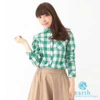 【earth music & ecology】格紋長袖襯衫(Y0161A40060)