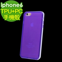 【For Apple】(5.5吋) iPhone6 Plus 透明彩色TPU+PC硬殼邊框 保護殼
