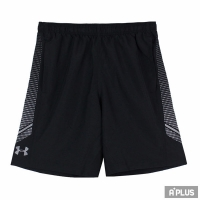 【Under Armour】Under Armour 男 HG WOVEN 印花訓練短褲 黑 - 1309651001
