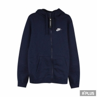 【NIKE】NIKE 男 AS M NSW CLUB HOODIE FZ BB 棉質--運動外套(連帽)- 804390451