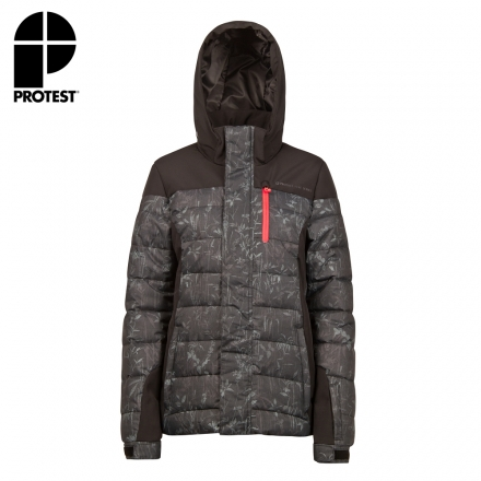 PROTEST 女 防水保暖外套 (真實黑) CECILE SNOWJACKET