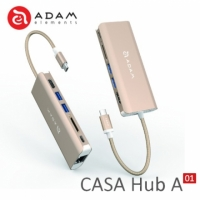 ADAM CASA Hub A01 USB3.1 Type-C 6port 多功能集線器-金色