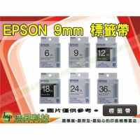 EPSON LC-3WBW/LC-3WRN/LC-3WBN/LC-3TBN 9mm 標籤帶