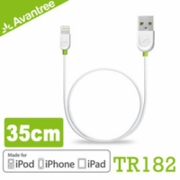 【風雅小舖】【Avantree MFI Lightning USB apple認證35公分充電傳輸短線(TR182)】8pin USB充線傳輸 iPhone5S、iPhone6、iPad Air可用