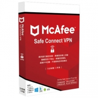 McAfee Safe Connect VPN 5台1年 中文盒裝
