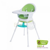 Creative Baby三合一成長型餐椅Sprout 3 in 1 Hi-Lo Chair(紅色/綠色)*babygo*(Creative Baby●餐椅)
