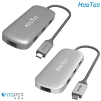 【WitsPer智選家】HooToo HT-UC007 Macbook dongle hub 6合1蘋果集線器(rj45網孔 macbook hub推薦, hootoo集線器)