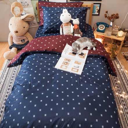 雙人床包枕套三件組